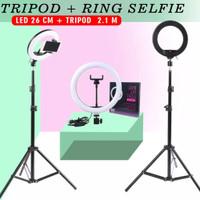 TERMURAH Ring Light 26cm + Light Stand Tripod 2.1M