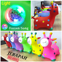 ANIMAL JUMPING JERAPAH MUSIC & LIGHT - MAINAN ANAK KUDA KUDAAN KARET