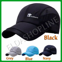 TOPI BASEBALL CAP T-OUTDOOR SPORT CASUAL TOPI SPORT GOLF - Black