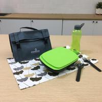 Kotak Tempat Makan - Botol Minum - Duo Simple Set Blue - Tupperware