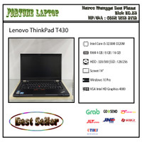 Lenovo ThinkPad T430 |Core i5-Gen 3 - Ram 4-HDD 320