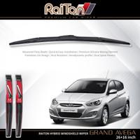 "Raiton Sepasang Wiper Hybrid Kaca Depan Mobil Grand Avega 26""&16"""