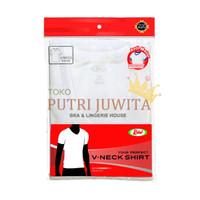 Rider Kaos Dalam Pria Kerah V PUTIH | Rider T-Shirt Men V-Neck WHITE