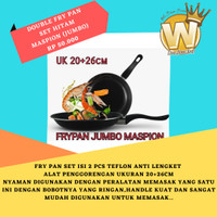 [JUMBO] DOUBLE FRY PAN SET HITAM MASPION 20CM+26CM MASLON