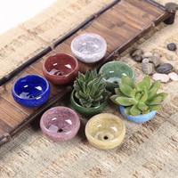 Pot Keramik Mini untuk Kaktus / Succulent (Berlubang)