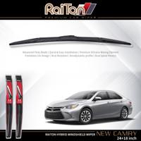 """Raiton Sepasang Wiper Hybrid Kaca Depan Mobil Toyota New Camry 24""""&18"""""""