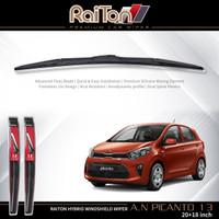"""Raiton Sepasang Wiper Hybrid Kaca Depan Mobil All New Picanto 20""""&18"""""""