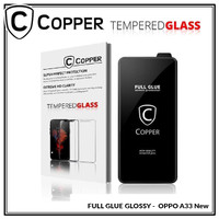 Oppo A33 New - COPPER Tempered Glass FULL GLUE PREMIUM GLOSSY