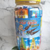 Permen Cemilan Coklat Jadul Pusan Pop Choc Payung Mainan (isi 40 pcs)