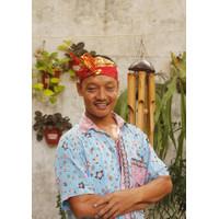 Udeng/ ikat Bali/ ikat kepala setengah jadi kain katun - Merah
