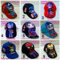 Topi Karakter Superhero Topj LED Nyala Topi Anak Laki Laki