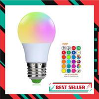 BONDA Lampu Bohlam RGB dengan Remote Control E27 3W