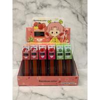 [LUSINAN] LIPGLOSS RAINBOW COLOR FRUIT GIRLS 8005