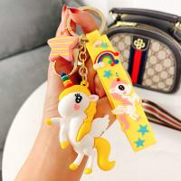 Gantungan Kunci Unicorn - Gantungan Kunci Lucu - Gantungan Kunci Unik - Kuning