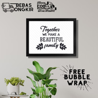 Hiasan dinding Poster dekorasi rumah Keluarga QUOTES Family 1 A4