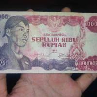 Uang Kuno 10000 Rupiah Soedirman VF