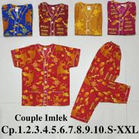 Piyama Batik Bagan Imlek Shio kerbau 2021 / piyama imlek / baju tidur