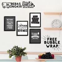 Hiasan dinding Poster dekorasi rumah DAPUR QUOTES Kitchen pajangan A4
