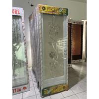 Pintu lipat pvc dan pintu alumunium motif bunga