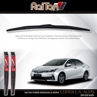 """Raiton Sepasang Wiper Hybrid Kaca Depan Mobil Toyota Altis 24"""" & 16"""""""