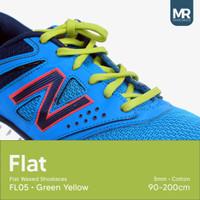 Tali Lilin Gepeng (Flat) 180cm 5mm Variasi Warna untuk Sepatu Sneakers