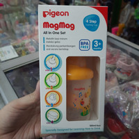 magmag all in one set training cup pigeon 4step bpa free 3+months