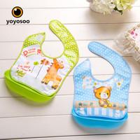Celemek Makan Bayi Bahan Karet Baby Bib Slaber Baby Burb-YOYOSOO