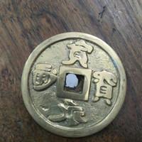 pajangan pis bolong uang china