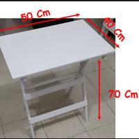Meja Lipat Full Kayu solid 50x40 Tinggi 70