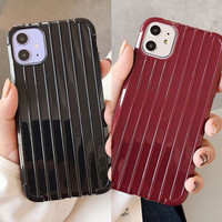 FOR OPPO A12, A52/A72/A92, A53 -BLACK MAROON KOPER TRAVEL LUGGAGE CASE