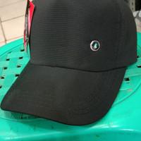 Topi polos hitam pria billup karet