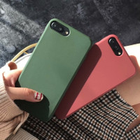FOR OPPO A1K - GREEN ARMY WINE RED SOFT CASE CASING