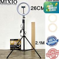 [ BESAR ] PAKET RING LIGHT 26cm + TRIPOD 2M + HOLDER HP VLOGGER TIKTOK