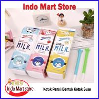 Terlaris Kotak Pensil Bentuk Kotak Susu / Milk Tempat Alat Tulis Tempa