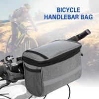 LIXADA Bicycle handlebar bag with cooler - Tas depan sepeda Seli MTB - Abu-abu