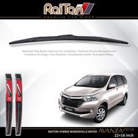 "Raiton Sepasang Wiper Hybrid Kaca Depan Toyota New Avanza 2016 22""&16"""