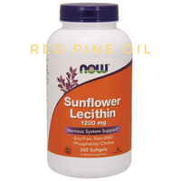 NOW Foods 200 softgels Sunflower Lecithin 1200mg