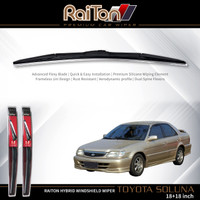 """Raiton Sepasang Wiper Hybrid Kaca Depan Mobil Toyota Soluna 18"""" & 18"""""""