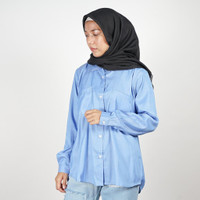 Daily Outfits Kemeja Wanita Lengan Panjang Katun Premium Quality