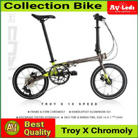 Sepeda Lipat Element Troy X Chromoly 10 Speed