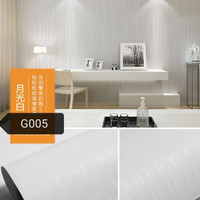 Putih polos tekstur salur 45 cm x 10 mtr ~ Wallpaper sticker dinding