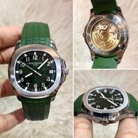 Jam Tangan Pria Patek Philippe Swiss Clone 1-1 Hijau Silver 40mm