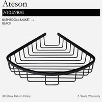 ATESON AT042BAL Rak Kawat Sudut Aksesoris Kamar Mandi Hitam Bathroom