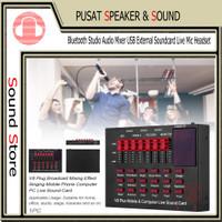 Sound card V8 Plus USB External Live Mic Headset Support Mobile dan Co