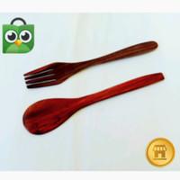 Sendok kayu Garpu Kayu Kerajinan kayu souvenir unik alat dapur