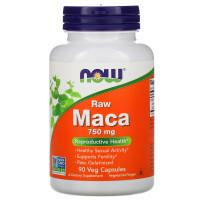 Now Foods Maca Raw 750 mg 750mg 90 Veg Capsules