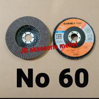 """FLAP DISC 4"""" No 60 merk CUMET / MATA GERINDA AMPLAS SUSUN No 60 CUMET"""