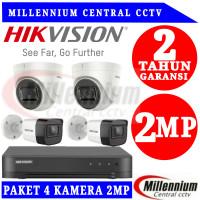 Paket CCTV Hikvision 4 Camera Turbo HD Indoor 2.0MP 500GB(Lengkap)