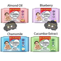 Cussons Baby Wipes/Tissue Basah/50s+50s - Biru Muda