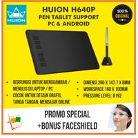 Huion H640 H640P Pen Graphic Tablet Gambar Desain Grafis PC Alt Wacom